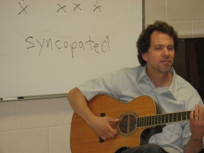 Dave in the classroom.